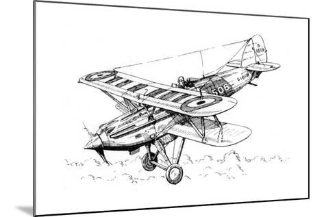 A Hawker Nimrod Aeroplane, C1930S-James Hay Stevens-Mounted Giclee Print