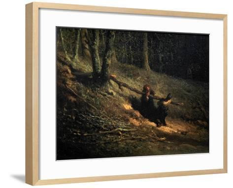 Peasant-Girls with Brushwood (Les Charbonniere), C1852-Jean Francois Millet-Framed Art Print