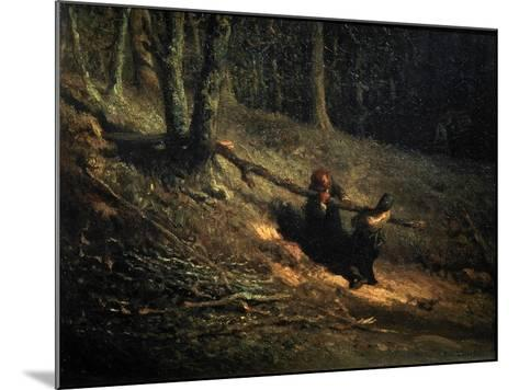Peasant-Girls with Brushwood (Les Charbonniere), C1852-Jean Francois Millet-Mounted Giclee Print