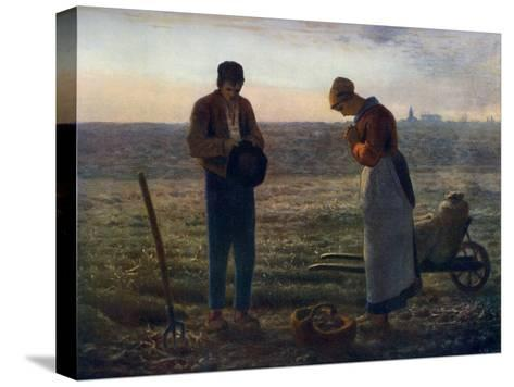 The Angelus, 1857-1859-Jean Francois Millet-Stretched Canvas Print