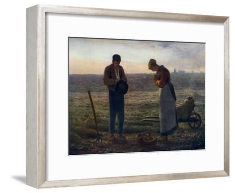 The Angelus, 1857-1859-Jean Francois Millet-Framed Art Print