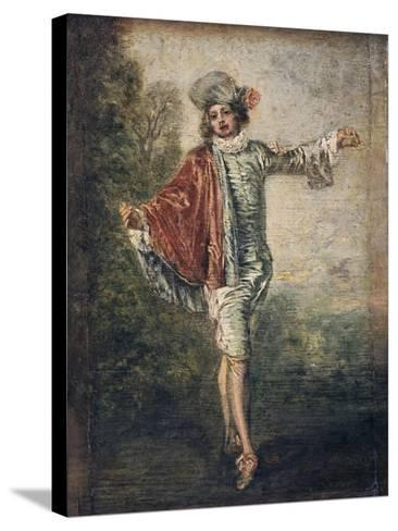 The Indifferent One, 1717-Jean-Antoine Watteau-Stretched Canvas Print