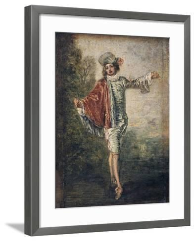 The Indifferent One, 1717-Jean-Antoine Watteau-Framed Art Print
