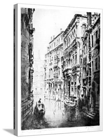 Grimari Canal, Venice, 1930-JF Barry Pittar-Stretched Canvas Print