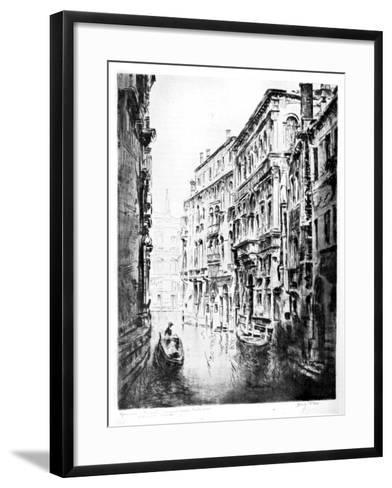 Grimari Canal, Venice, 1930-JF Barry Pittar-Framed Art Print