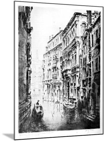 Grimari Canal, Venice, 1930-JF Barry Pittar-Mounted Giclee Print