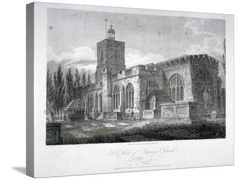 South-East View of the Church of St Dunstan, Stepney, London, 1804-James Sargant Storer-Stretched Canvas Print