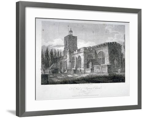 South-East View of the Church of St Dunstan, Stepney, London, 1804-James Sargant Storer-Framed Art Print