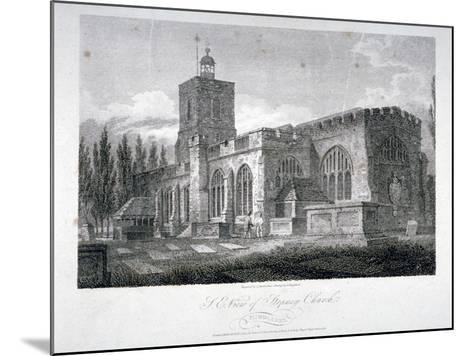 South-East View of the Church of St Dunstan, Stepney, London, 1804-James Sargant Storer-Mounted Giclee Print