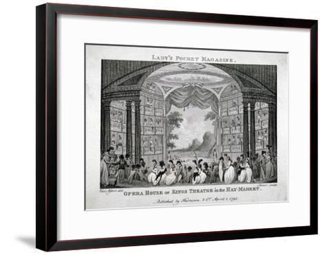Interior View of the King's Theatre, Haymarket, London, 1795-James Sargant Storer-Framed Art Print