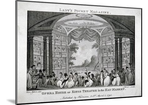Interior View of the King's Theatre, Haymarket, London, 1795-James Sargant Storer-Mounted Giclee Print
