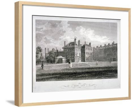 View of New Inn on Wych Street,Westminster, London, 1804-James Sargant Storer-Framed Art Print