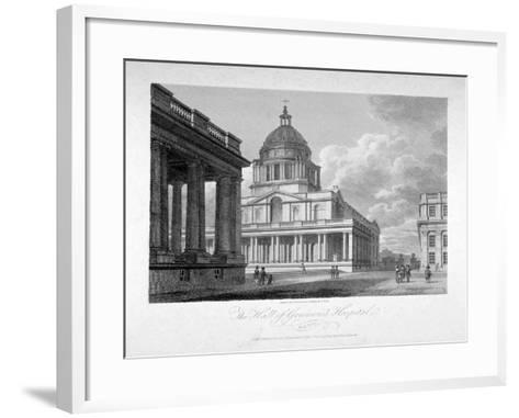View of the Hall of Greenwich Hospital, London, 1804-James Sargant Storer-Framed Art Print