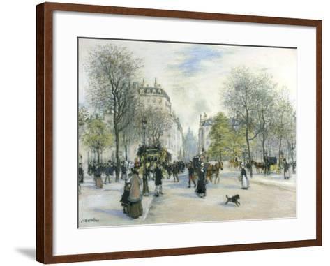 Paris, 1900-Jean Francois Raffaelli-Framed Art Print