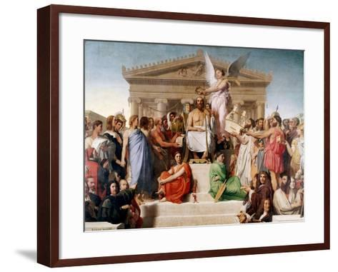 The Apotheosis of Homer, 1827-Jean-Auguste-Dominique Ingres-Framed Art Print