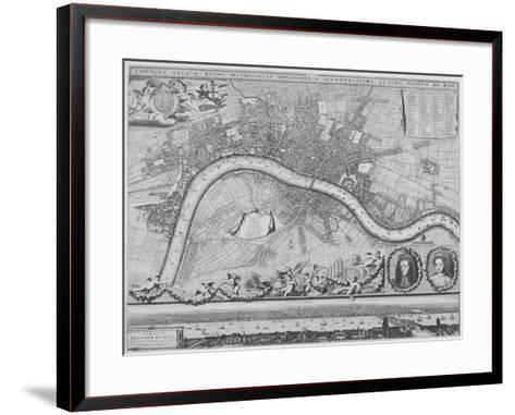 Map of London, 1690-Johannes de Ram-Framed Art Print