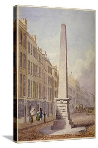 Monument at the Junction of Farringdon Street and Fleet Street, City of London, 1833-James Elmes-Stretched Canvas Print