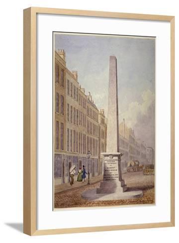 Monument at the Junction of Farringdon Street and Fleet Street, City of London, 1833-James Elmes-Framed Art Print