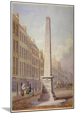 Monument at the Junction of Farringdon Street and Fleet Street, City of London, 1833-James Elmes-Mounted Giclee Print