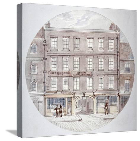 22 and 23 Farringdon Street, City of London, C1855-James Findlay-Stretched Canvas Print