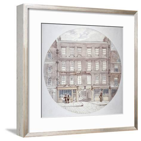 22 and 23 Farringdon Street, City of London, C1855-James Findlay-Framed Art Print