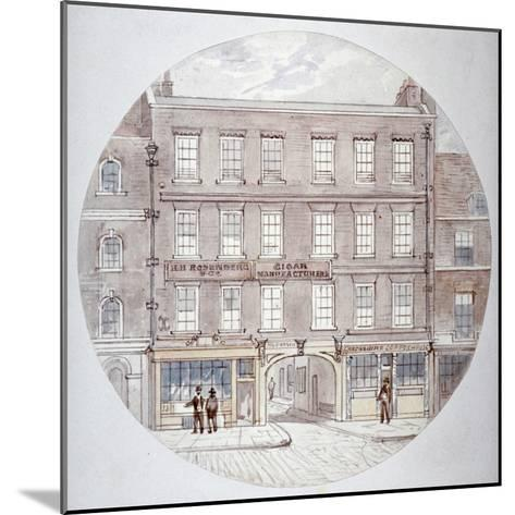 22 and 23 Farringdon Street, City of London, C1855-James Findlay-Mounted Giclee Print