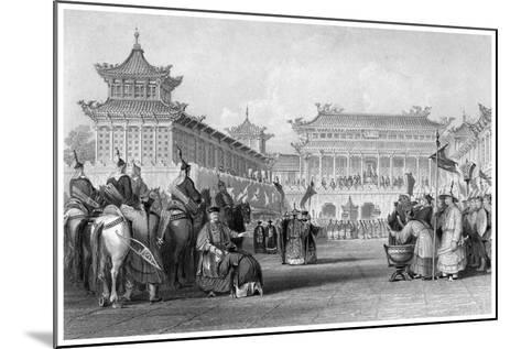 The Emperor Teaou-Kwang Reviewing His Guards, Palace of Peking, China, 19th Century-JB Allen-Mounted Giclee Print