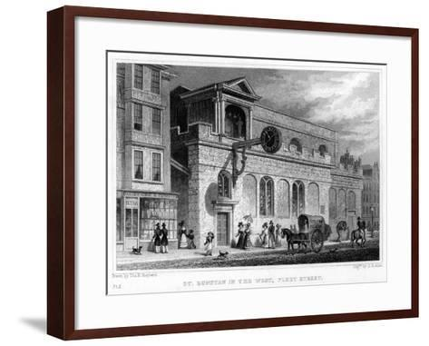 Church of St Dunstan in the West, Fleet Street, City of London, 1816-JB Allen-Framed Art Print