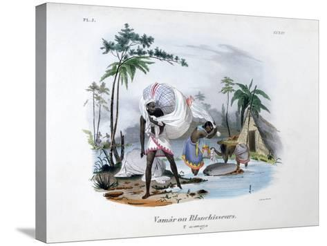 Launderers, 1828-Jean Henri Marlet-Stretched Canvas Print