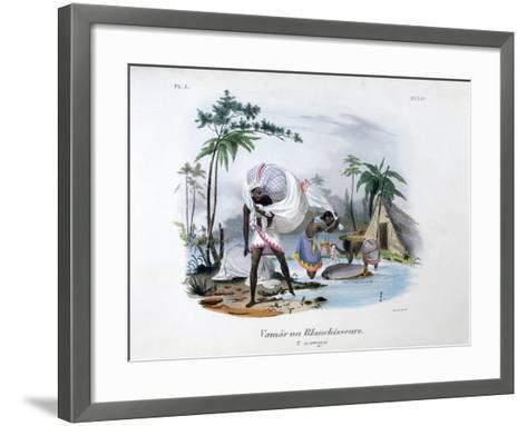 Launderers, 1828-Jean Henri Marlet-Framed Art Print