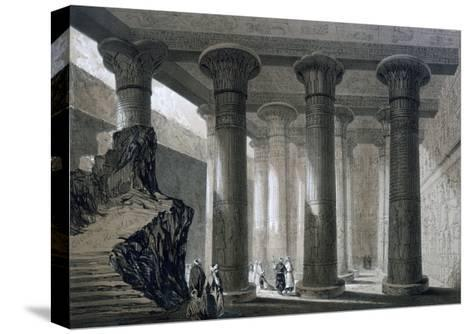 Temple at Esneh, Egypt, 19th Century-JH Allan-Stretched Canvas Print