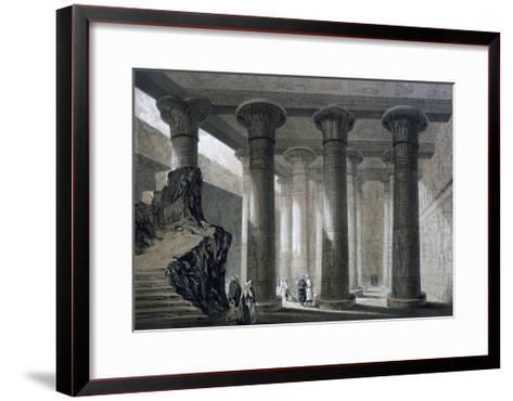 Temple at Esneh, Egypt, 19th Century-JH Allan-Framed Art Print