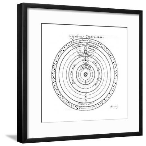 Copernican (Heliocentri) System of the Universe, 17th Century-Johannes Hevelius-Framed Art Print