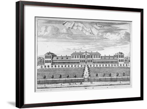 Almshouses in Pitfield Street, Shoreditch, London, C1720-Johannes Kip-Framed Art Print