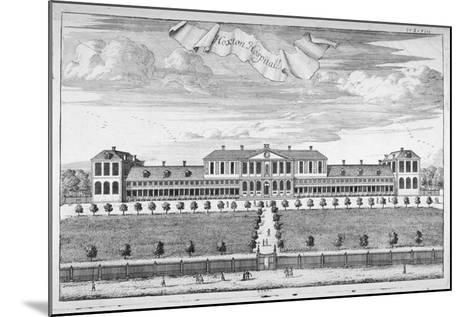Almshouses in Pitfield Street, Shoreditch, London, C1720-Johannes Kip-Mounted Giclee Print