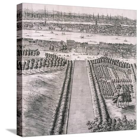 Panoramic View of London, 1720-Johannes Kip-Stretched Canvas Print
