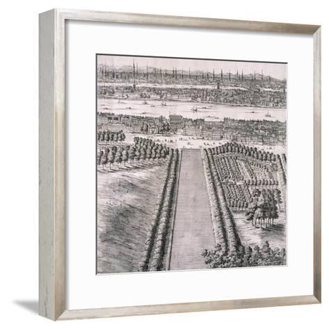 Panoramic View of London, 1720-Johannes Kip-Framed Art Print