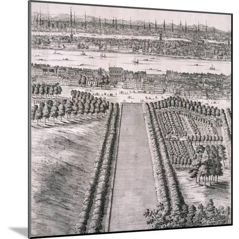 Panoramic View of London, 1720-Johannes Kip-Mounted Giclee Print