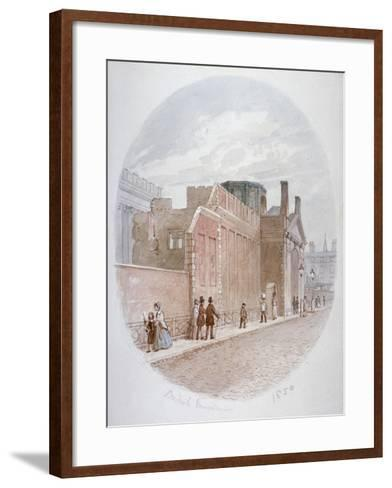 Part of a Wall of the Old British Museum, Bloomsbury, London, 1850-James Findlay-Framed Art Print