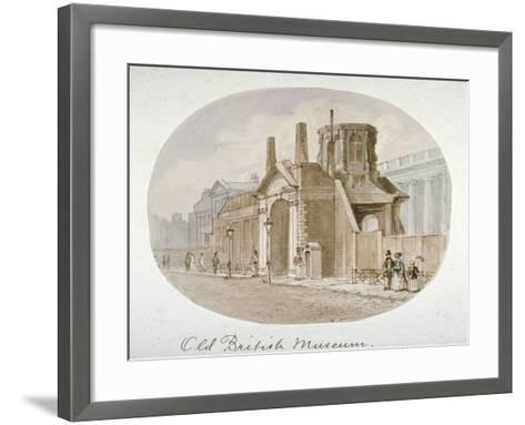 View of the Old British Museum, Bloomsbury, London, 1850-James Findlay-Framed Art Print
