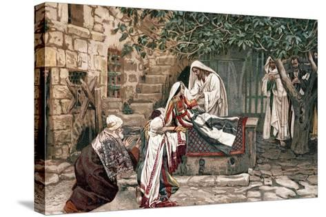 Christ Raising the Daughter of Jairus, Governor of the Synagogue, from the Dead, 1897-James Jacques Joseph Tissot-Stretched Canvas Print