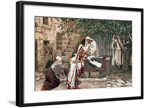 Christ Raising the Daughter of Jairus, Governor of the Synagogue, from the Dead, 1897-James Jacques Joseph Tissot-Framed Art Print