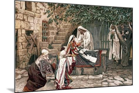 Christ Raising the Daughter of Jairus, Governor of the Synagogue, from the Dead, 1897-James Jacques Joseph Tissot-Mounted Giclee Print
