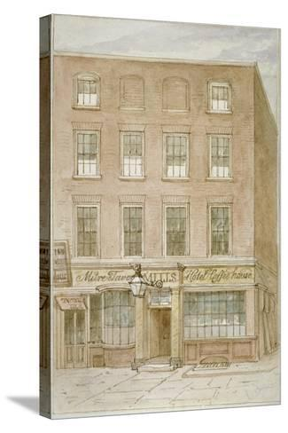 The Mitre Tavern, Coffee House and Hotel on Mitre Court, Fleet Street, City of London, 1850-James Findlay-Stretched Canvas Print