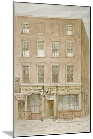 The Mitre Tavern, Coffee House and Hotel on Mitre Court, Fleet Street, City of London, 1850-James Findlay-Mounted Giclee Print
