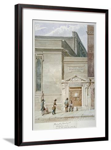 Partial View of St Katherine Cree and the Aldgate Watch House, City of London, 1830-James Findlay-Framed Art Print