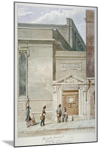 Partial View of St Katherine Cree and the Aldgate Watch House, City of London, 1830-James Findlay-Mounted Giclee Print
