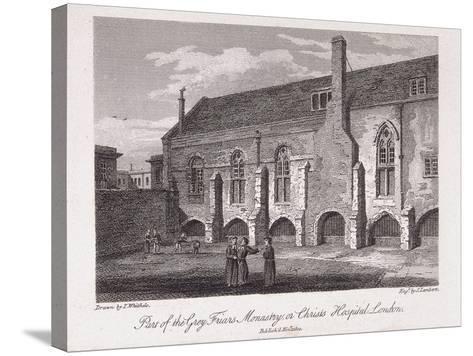 Christ's Hospital, London, 1812-James Lambert-Stretched Canvas Print