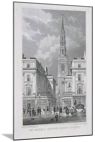 St Brides Avenue, London, 1829-James Tingle-Mounted Giclee Print