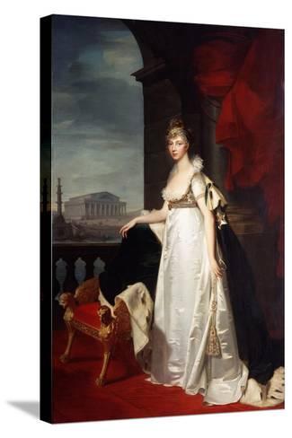 Portrait of Empress Elizabeth Alexeievna, 1805-Jean Laurent Monnier-Stretched Canvas Print